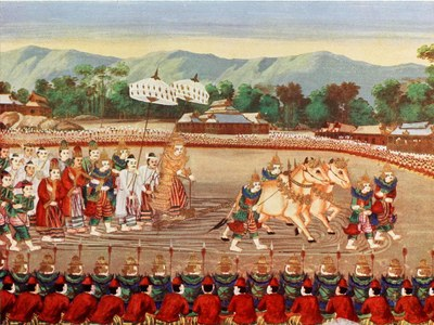 Depiction of Royal Ploughing